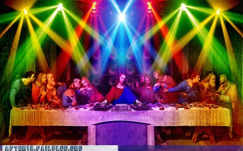 12 disciples ecstasy jesus Party plur rave the last supper trance - 6109364224