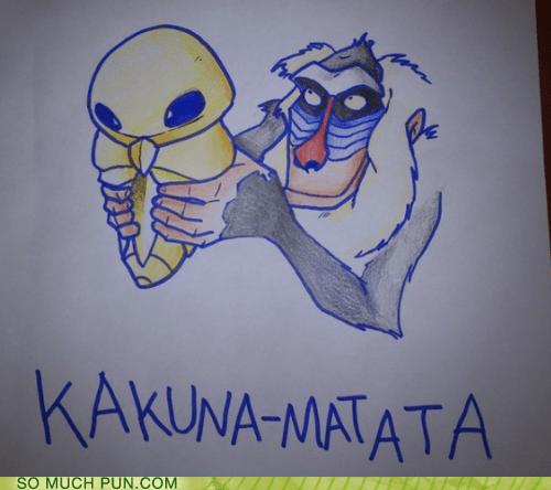 hakuna matata Hall of Fame kakuna literalism rafiki similar sounding the lion king - 6109392896