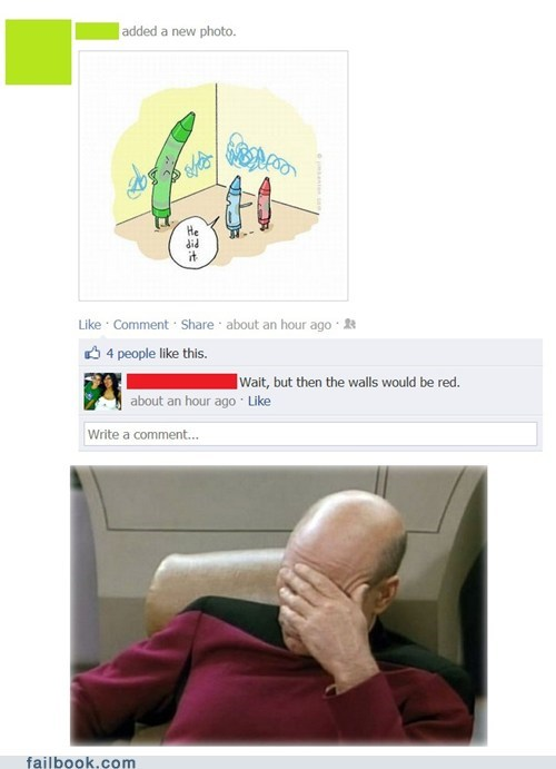 color crayons facepalm joke picard - 6109413632