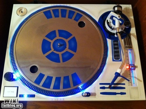 g rated Hall of Fame Music nerdgasm r2-d2 star wars turntable win - 6109419520
