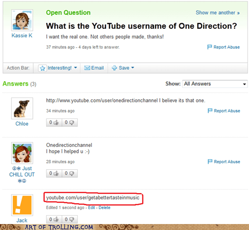 Music one direction the next justin bieber Yahoo Answer Fails - 6109790208