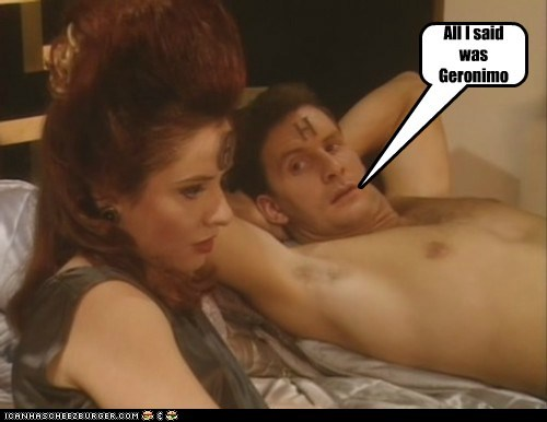 arnold rimmer,chris barrie,geronimo,in bed,jane horrocks,nirvanah crane,red dwarf,said