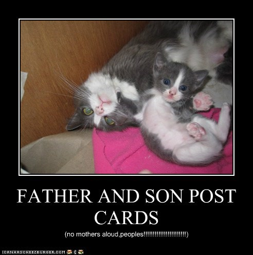 FATHER AND SON POST CARDS