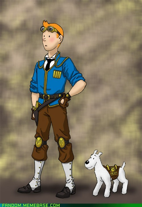 comics Fan Art movies snowy Steampunk Tintin - 6110593536