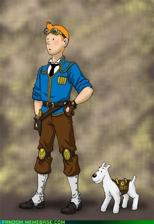 comics Fan Art movies Steampunk Tintin - 6110593536