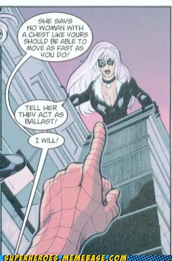 bewbs,black cat,Memes,Spider-Man,Straight off the Page,wtf