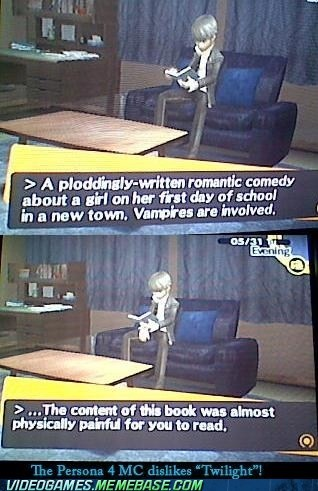 amazing,books,gameplay,meme,persona 4,twilight,vampires