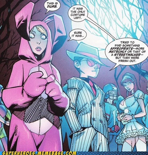 bunny costume robin Straight off the Page supergirl wtf - 6112276992