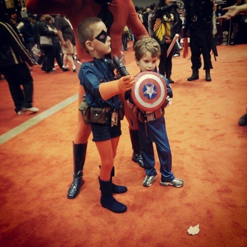 Bucky,captain america,cosplay,kids,marvel comics