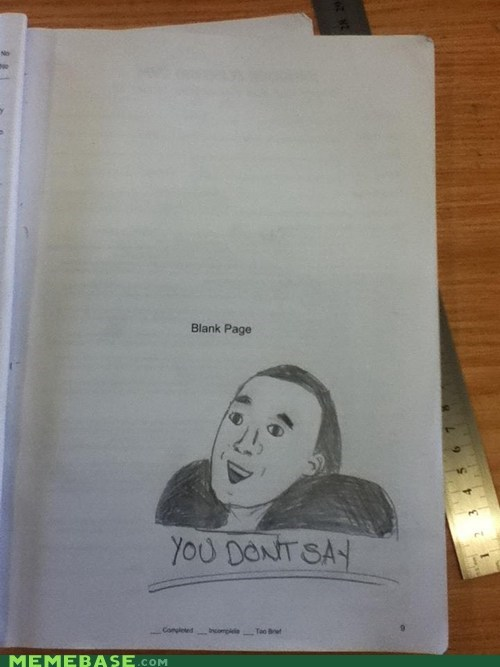 blank page nicholas cage standardized test funny - 6112918784