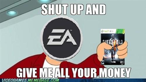 Battlefield 3 EA meme shut up and take my money meme used games - 6112976640