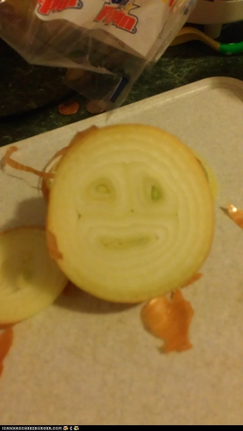 cross section,cry,face,jerk,onion,smile