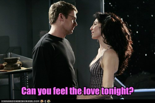 claudia black,daniel jackson,love,michael shanks,singing,Stargate,stargate atlantis,the lion king,vala mal doran