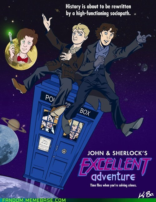 bbc bill and ted crossover Fan Art Sherlock - 6113358848