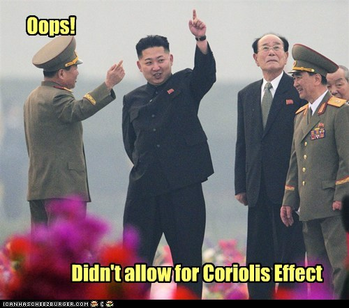 Oops! Didn't allow for Coriolis Effect