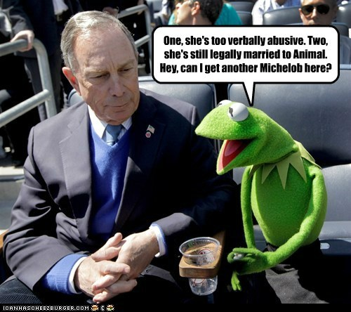 kermit the frog,michael bloomberg,muppets,political pictures