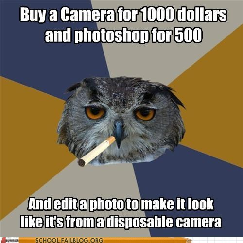 Art Student Owl camera effects disposable camera instagram - 6114630144