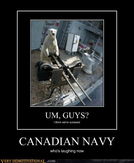 Canada hilarious navy polar bear