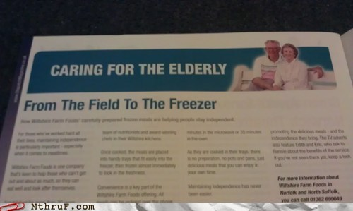 bad news elderly field freezer kesgrave