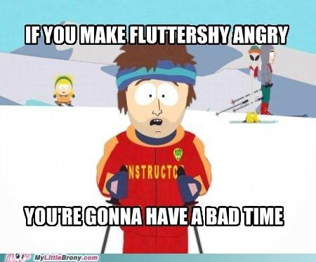 angry bad time fluttershy meme ski instructor - 6116558592