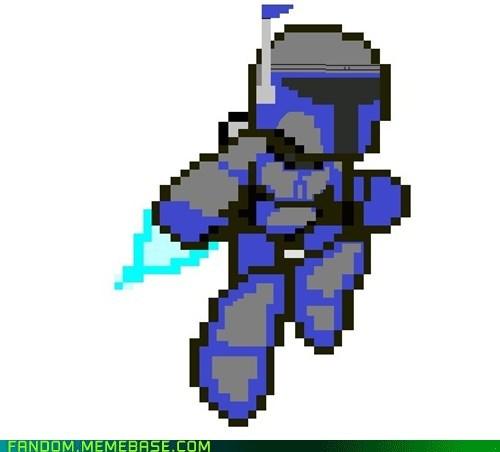 crossover Fan Art Jango Fett mega man scifi star wars video games - 6116609536