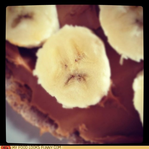 banana face peanut butter Sad - 6116903680
