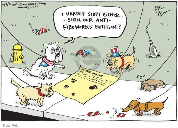 dogs funny comics scared 4th of july web comics - 6117125