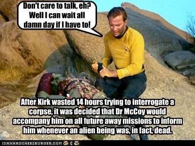 arena,corpse,dead,explanation,Gorn,hes-dead,hours,interrogation,McCoy,Star Trek