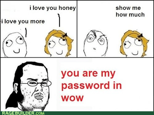 password,Rage Comics,video games,WoW