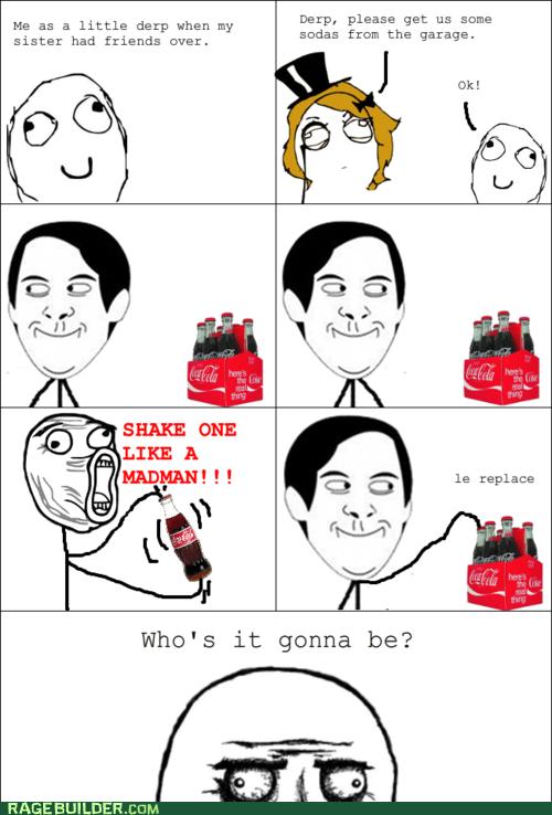 coke,Rage Comics,shake,spiderpman