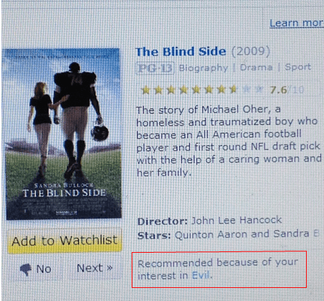 blind side evil michael oher recommendation