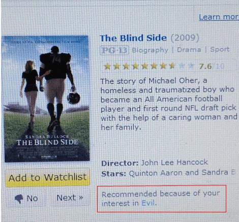 blind side evil michael oher recommendation - 6117395712