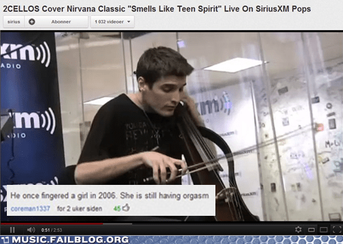 cello,fingering,nirvana,smells like teen spirit,youtube