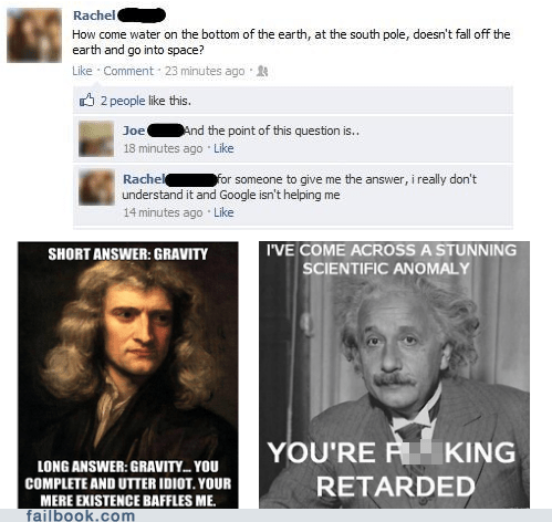 einstein,failbook,g rated,Gravity,Newton,science