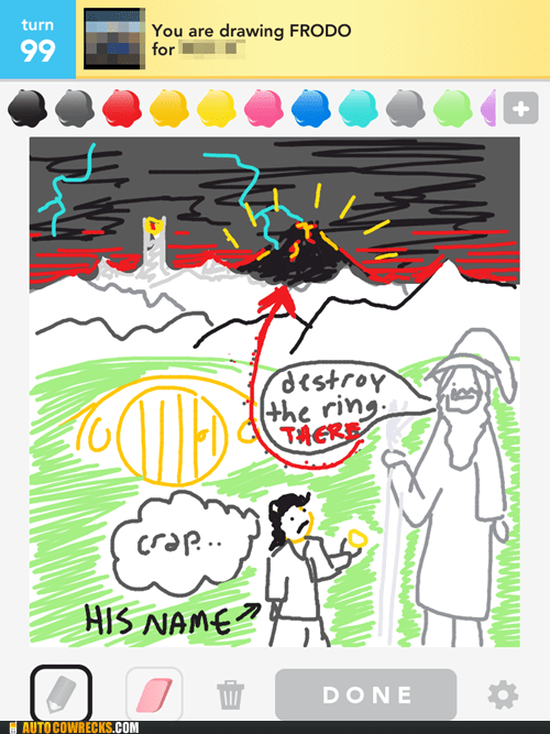draw something frodo gandalf Lord of the Rings mordor