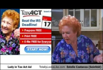 Ad,estelle costanza,funny,lady,seinfeld,taxact,TLL