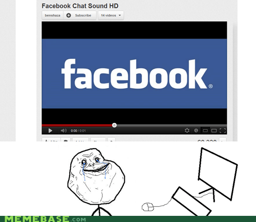 forever alone,facebook notifications,facebook