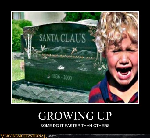 fast grow up hilarious santa claus
