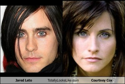 actor,celeb,classic,courtney cox,funny,jared leto,TLL