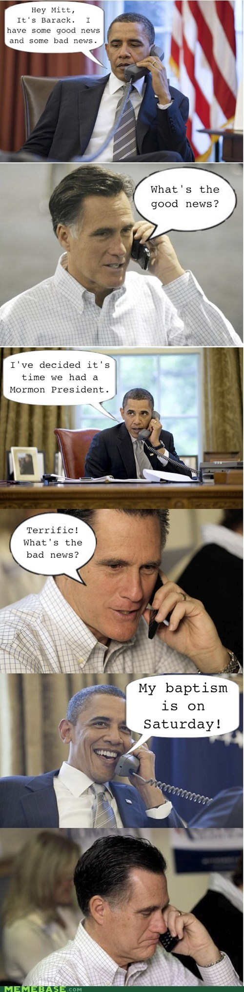 2012 Presidential Campaig barack obama mormon politics president