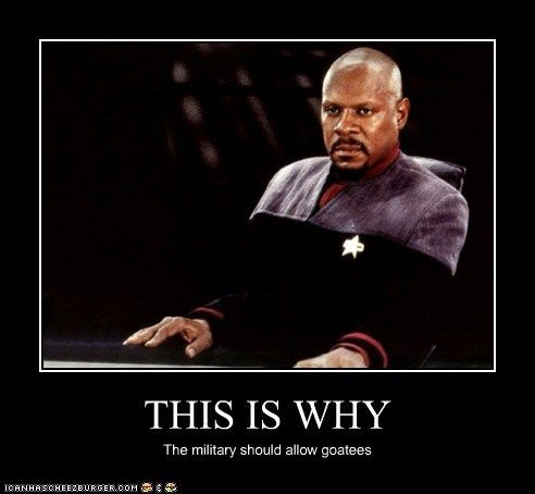 allowed,avery brooks,awesome,captain sisko,Deep Space Nine,goatees,military,Star Trek,why