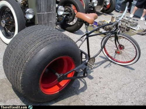 bicycle big wheel g rated there I fixed it tire wheel