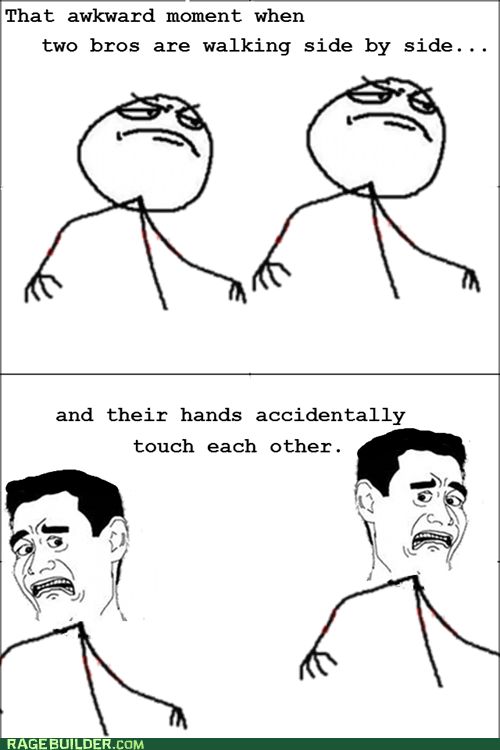 bros no homo Rage Comics walking - 6120356864