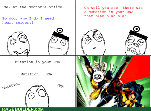 heart surgery,Rage Comics,Sad,xmen