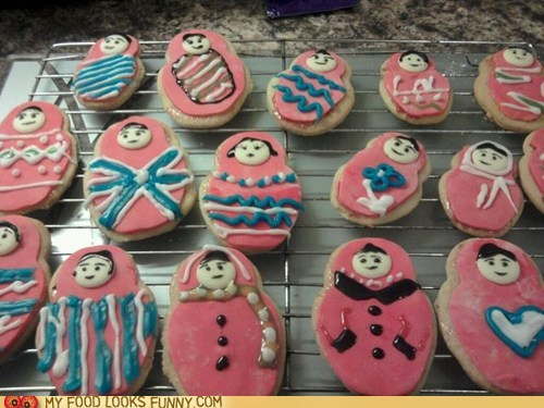 cookies icing Matryoshka nesting dolls russian dolls