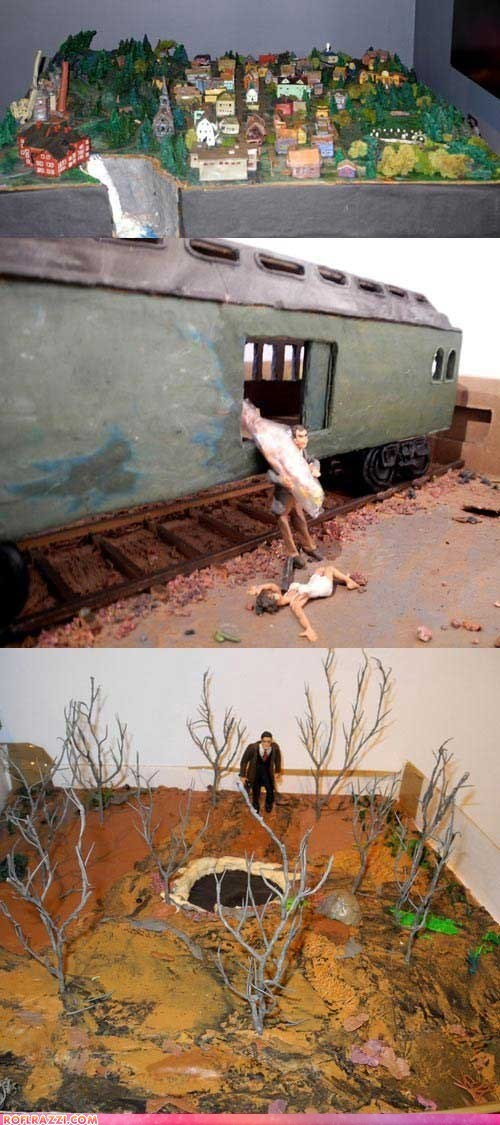 david lynch Hall of Fame Laura Palmer model town train Twin Peaks - 6120577280