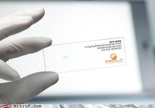 business cards ebolaindustries microscope - 6120636416