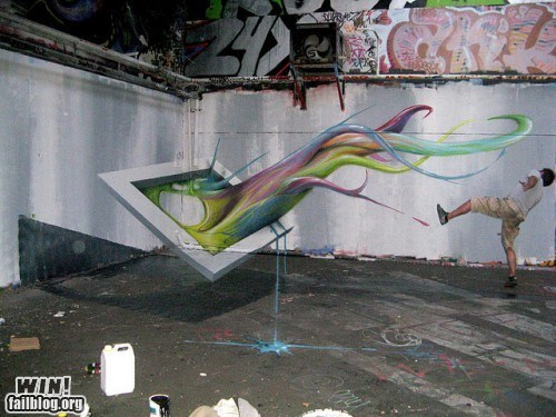 graffiti hacked irl illusion pretty colors Street Art - 6120678912