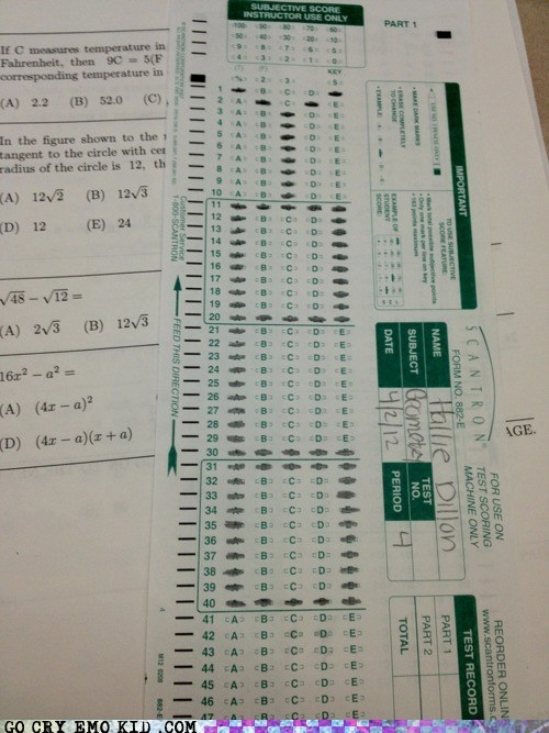 best of week,math,scantron,test,yolo