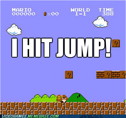 i hit jump jump lag mario NES the feels